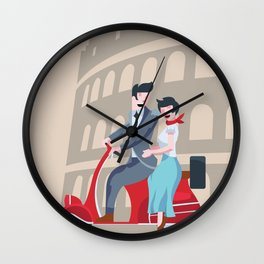 Roman Holiday Wall Clock