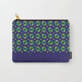 Navy cloverleaf print Carry-All Pouch