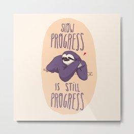 sloth progress Metal Print