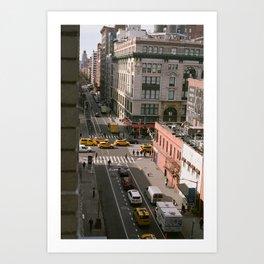 Busy Manhattan Street Art Print