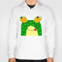 frog Hoodies featuring Frog by Jessica Slater Design & Illustration