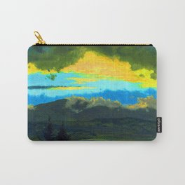 Frederic Edwin Church Sunset Across the Hudson Valley Carry-All Pouch