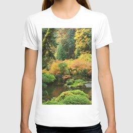 USA Portland Japanese Autumn Nature Gardens Bush Trees Shrubs T-shirt