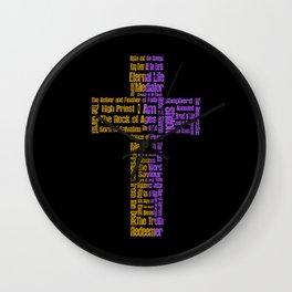 Names of Jesus Cross 2 Wall Clock