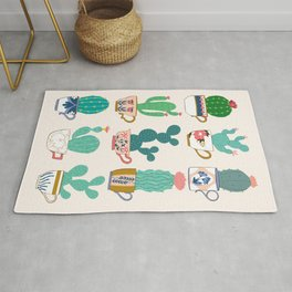 Cactus plant tea cup collection Rug