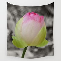 peony Wall Tapestries featuring Peony by Kama Storie