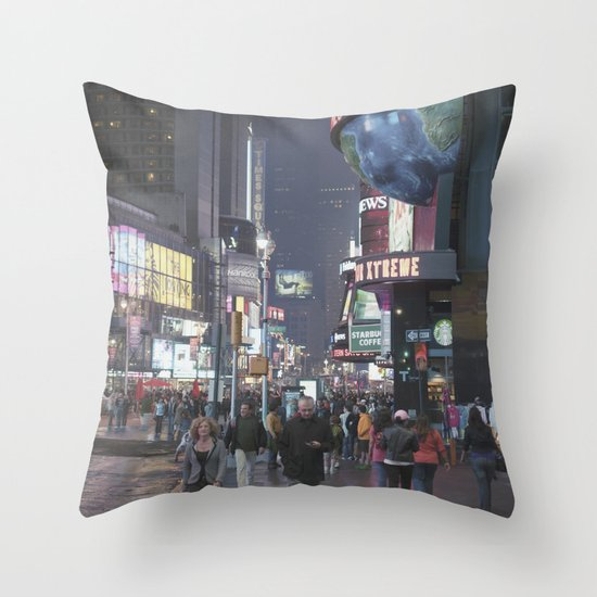 it's not even square... Throw Pillow