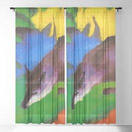 Franz Marc - Blue-Black Fox Sheer Curtain