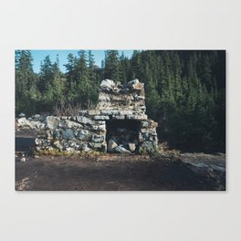 Cabin at Snow Lake Canvas Print