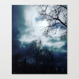 Cloudy skys Canvas Print