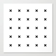 Black X on White Canvas Print