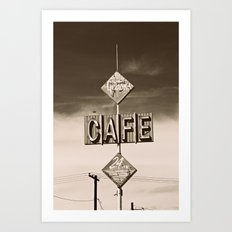 24 hour Cafe  Art Print