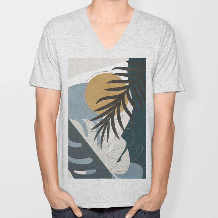 Abstract Tropical Art II Unisex V-Neck