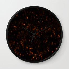 Dark Tortoise Shell Pattern Wall Clock
