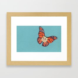 Mr. Cotton is a Butterfly Now? Framed Art Print