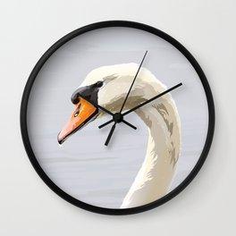 Elegance: Swan Wall Clock