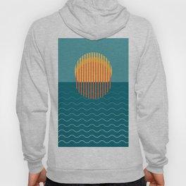 Minimalist Sunset Over Ocean, Travel Print, Sun Set Poster, Large Printable Photography, Wall Art Hoody