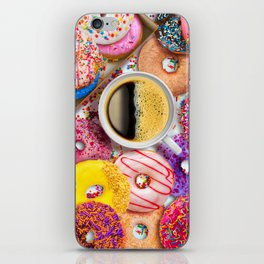 Donuts & Coffee iPhone Skin