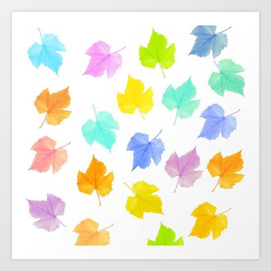 The seasons go by Art Print