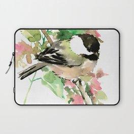 Chickadee and spring blossom Laptop Sleeve