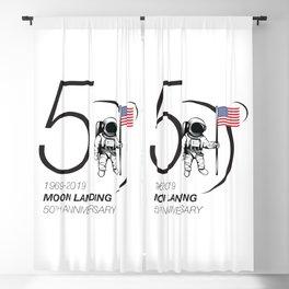 Moon landing 50th year anniversary Blackout Curtain