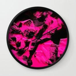 Happy Chaos (Pink) Wall Clock