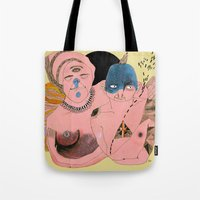 angels Tote Bags featuring Angels by Amandah Andersson