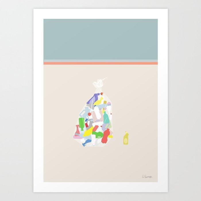 PLASTKRIMINALITET No.01(Plastic waste is a problem.) Art Print