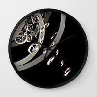 the lord of the rings Wall Clocks featuring Lord of the rings (2) by Brian Raggatt