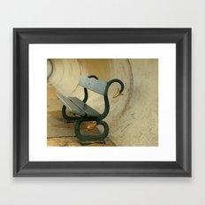Serpent Seat Framed Art Print