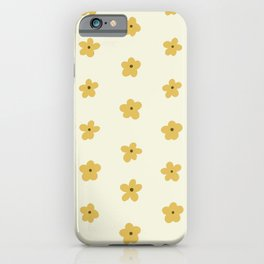 Golden Yellow and Cream Daisies iPhone Case