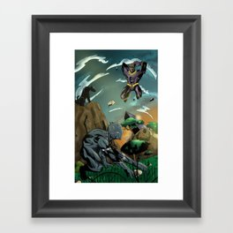 Wakanda Showdown Framed Art Print