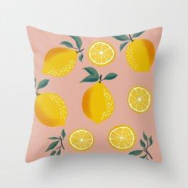Pink Zest Throw Pillow