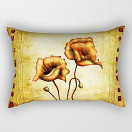 Flower vintage illustration art design fun Rectangular Pillow