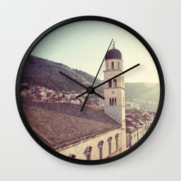 Belltower in Dubrovnik Wall Clock
