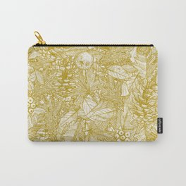 forest floor gold ivory Carry-All Pouch