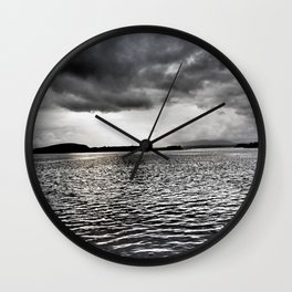 Cloudy Seascape - Oban Wall Clock