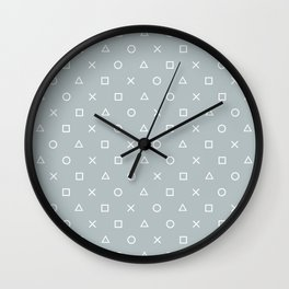 Gamer in the Fog Wall Clock