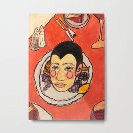 Head on a platter Metal Print