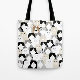 Cats and Dog Tote Bag
