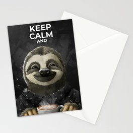 Keep Calm and enkoy coffee Stationery Cards
