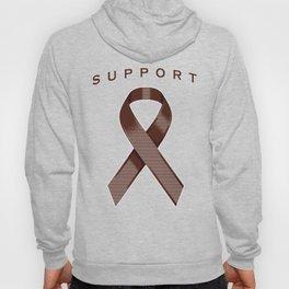 Brown Awareness Ribbon Hoody