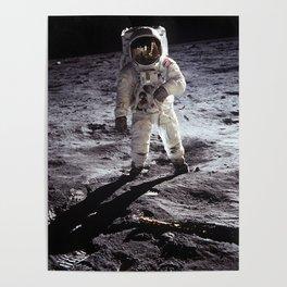 Apollo 11 - Iconic Buzz Aldrin On The Moon Poster