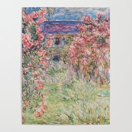 Monet, The House Among The Roses, 1917-1919 Poster