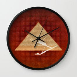 Inside the Great Pyramid of Gi Wall Clock