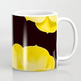 Large Yellow Succulent On Black Background #decor #society6 #buyart Coffee Mug