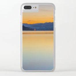 A calm sunrise Clear iPhone Case