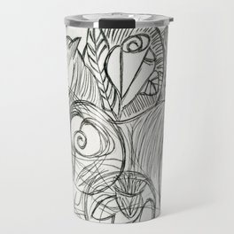 Cat in the Dreamtime Travel Mug
