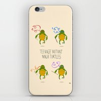 teenage mutant ninja turtles iPhone & iPod Skins featuring teenage mutant ninja turtles by Lionel Hotz