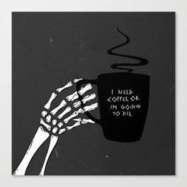 Black Coffee Canvas Print